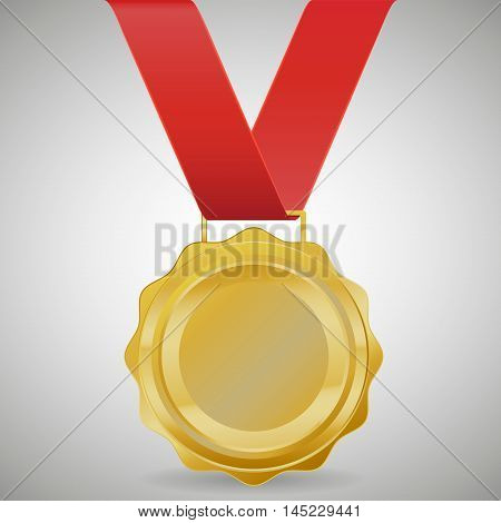 Champion Gold Medal Vector Design. on gray background