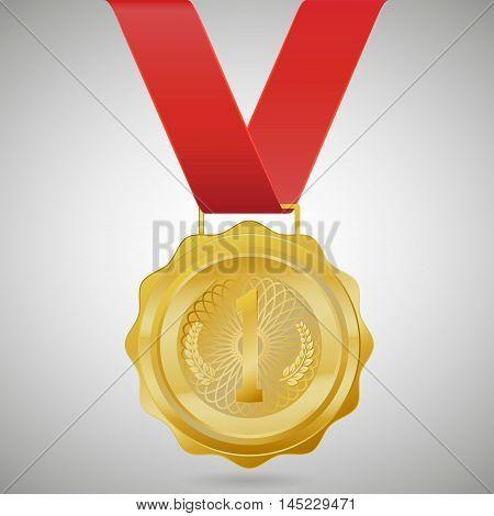 Champion Gold Medal Vector Design .vector illustration