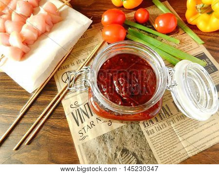 Tomato barbecue sauce with a smoky flavor
