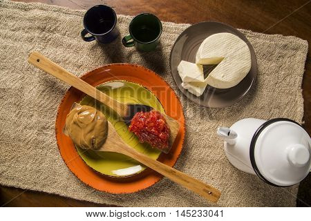 Typical Brazilian specialty: guava paste with white cheese locally known as