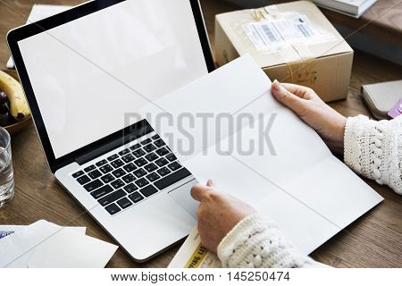 Online Shopping Shopaholic Materialistic Package Copy Space Concep?