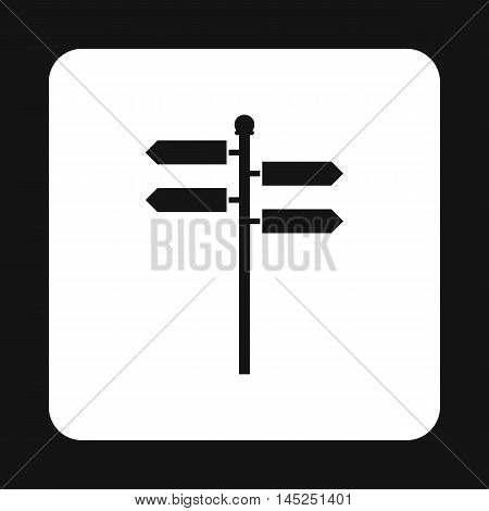 Direction signs icon in simple style on a white background