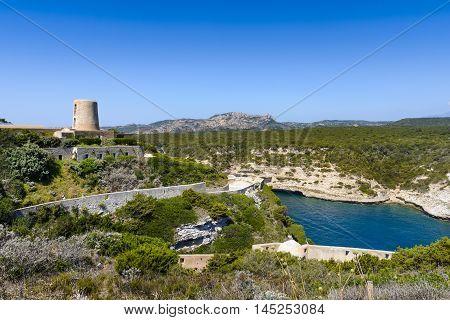Landscape And Blue Sky At Bonifacio, Corsica