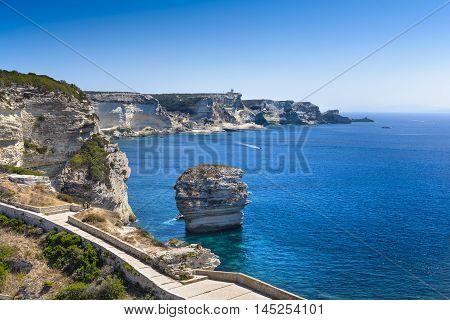 Rocks, Sea And Coast Of Bonifacio, Corsica