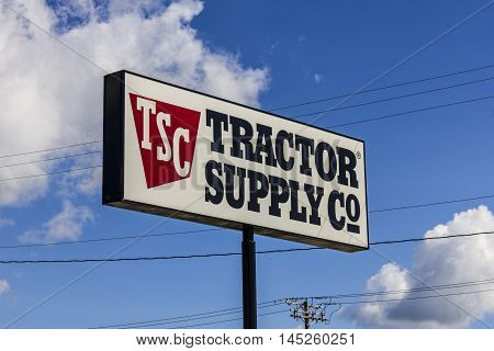 Muncie - Circa September 2016: Tractor Supply Company Retail Location. Tractor Supply is Listed on the NASDAQ under TSCO II
