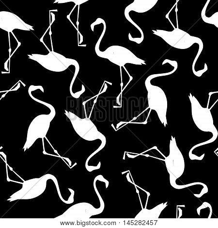 Background seamless vector flamingo, flamingo sketch vector illustration seamless. tropical theme, the idea of textiles, fashion trend, flamingo pattern