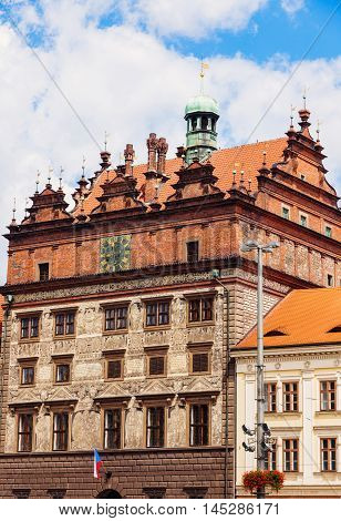Old Town Hall on Square of the Republic in Pilsen. Pilsen Czech Republic