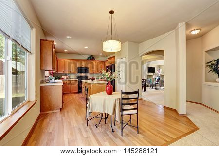 American Classic Cream Colored Luxury Kitchen With Fitted Appliances