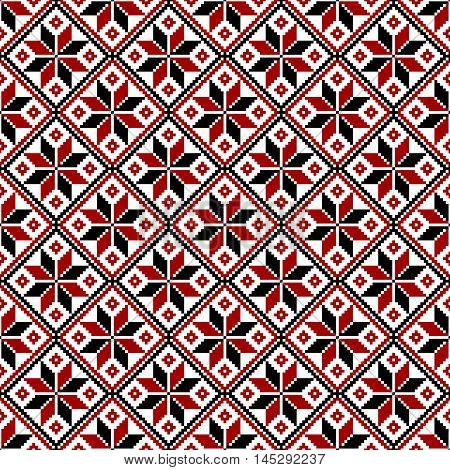 Vector seamless slavic ethnic  (belorussian, russian) pattern. Symbol of fire, flame, man, masculine