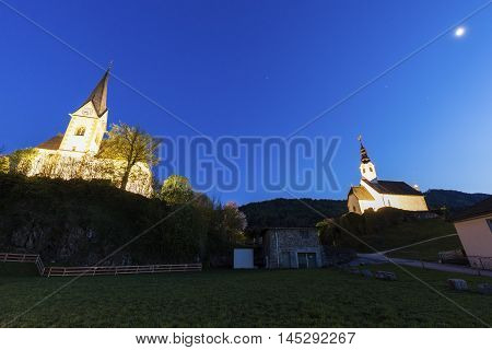 Saints Primus and Felician Church in Maria Worth. Maria Worth Carinthia Austria.