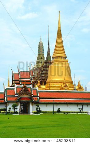Wat Phra Kaew also called as Emerald Buddha temple is located in Bangkok, Thailand. Wat Phra Kaew is a famous temple in Bangkok and popular tourist attraction