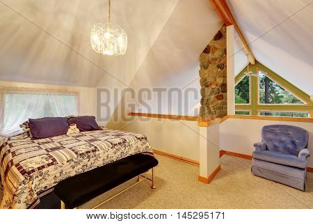 Vaulted Ceiling Bedroom Interior Upstairs