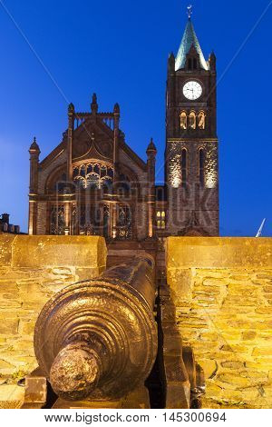 Guildhall in Derry Derry Northern Ireland United Kingdom.