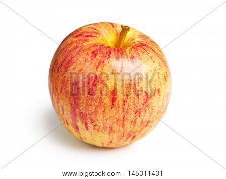 Fresh Gala apple isolated on white background