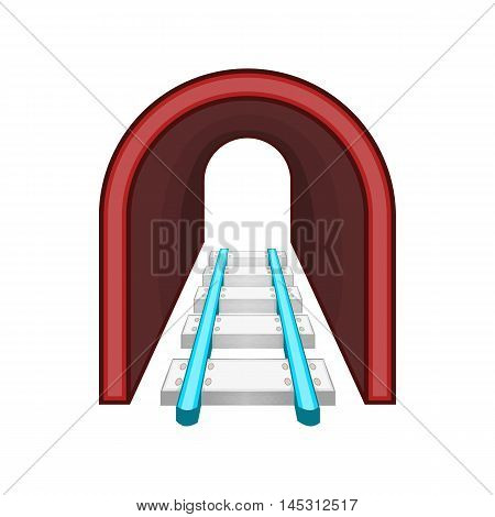 Rails icon in cartoon style isolated on white background. Way symbol
