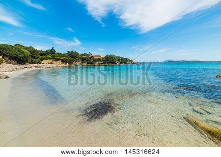 clear water in Costa Smeralda in Sardinia