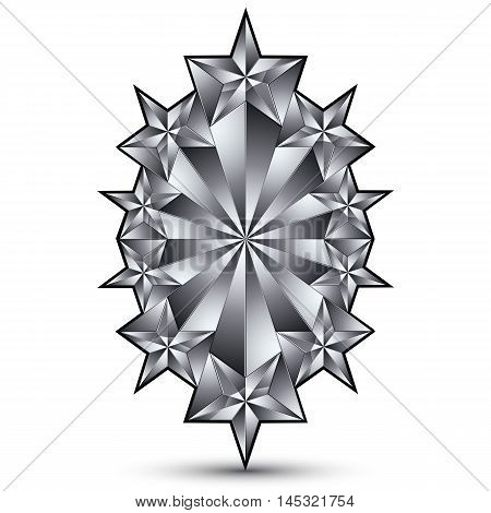 Glamorous vector template with pentagonal silvery stars best for use in web and graphic design.