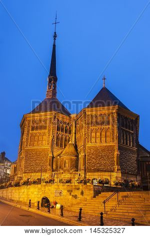 St Catherine Church in Honfleur. Honfleur Normandy France.