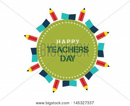 Stylish text for Happy Teachers Day Vector illustration