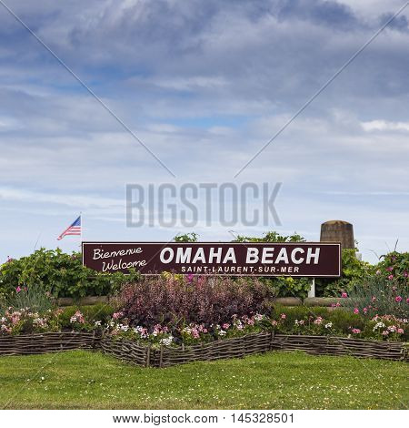 Welcome to Omaha Beach Saint Laurent sur Mer Normandy France.