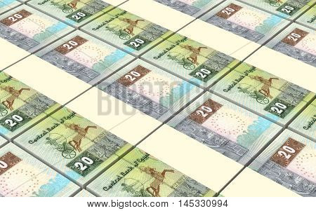 Egyptian pounds bills stacks background. 3D illustration.