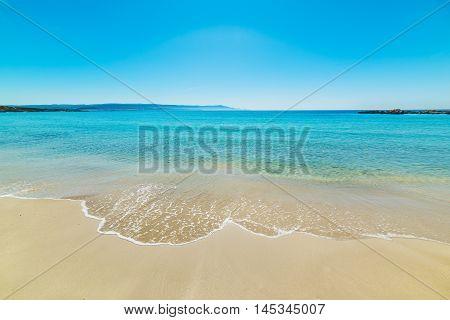 clear sky over Le Bombarde beach Sardinia