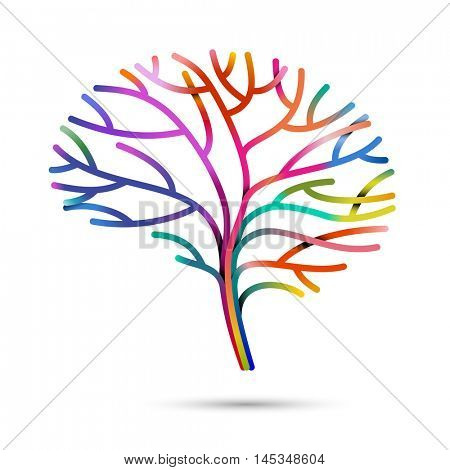 Multicolored brain, eps10 vector