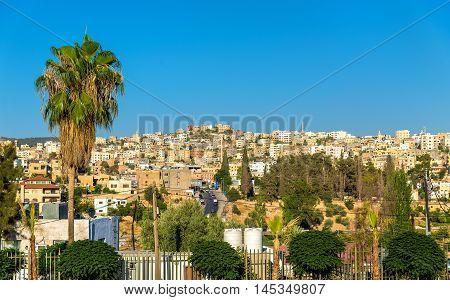 View on the modern city of Jerash in Jordan