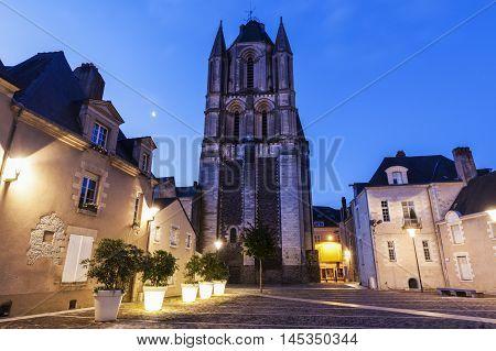 Saint-Aubin Abbey in Angers. Angers Pays de la Loire France