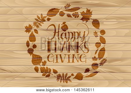Happy Thanksgiving Day Logotype,