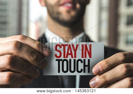 Stay in Touch text