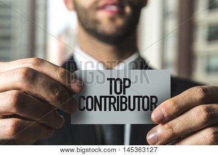 Top Contributor text