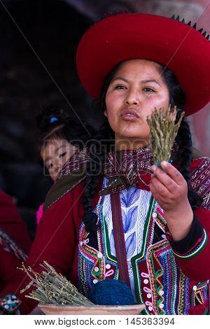 Weaver Woman In Chinchero