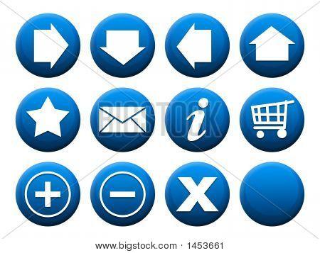 Button Set Blue