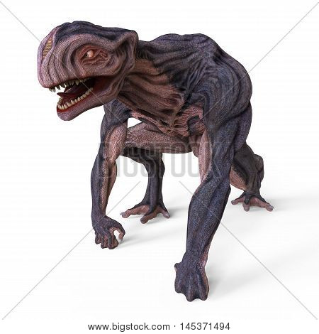 3D Illustration Of A Monster Isolated on White