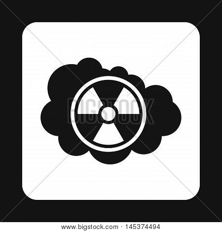 Radioactive air icon in simple style isolated on white background. Danger symbol