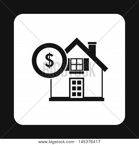 Buying a home icon in simple style isolated on white background. Purchase symbol
