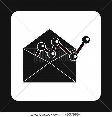 E-mail configuration icon in simple style isolated on white background. Message symbol