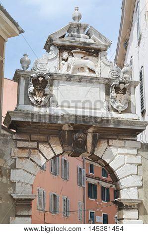 Balbi's Arch in Rovinj Rovigno Istria Croatia