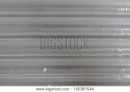 closeup of the air foil for packaging