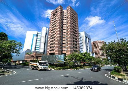 Labuan,Malaysia-Sept 1,2016:Labuan Financial Park Complex of Labuan,Malaysia.The complex is self contained with areas for working,living,shopping,leisure & convention,include Alpha & Beta Park Tower.