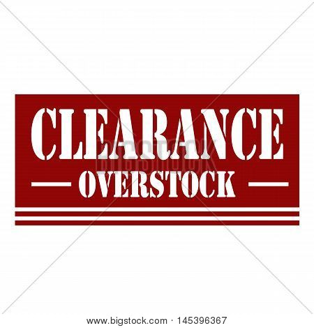 Red stamp with text Clearance, vector illustration