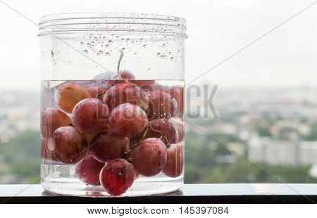 Grape Fruite In Water