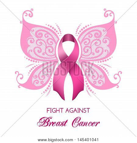 Altered breast cancer image transcending victory winged