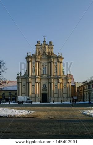 Church Of The Assumption Of The Virgin Mary And St. Joseph (carmelite Church) In Warsaw, Poland