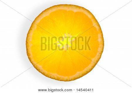 Glowing Orange  Isolated