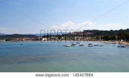 Sidari beach in summer on Corfu island Greece