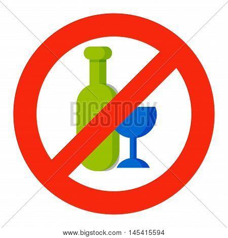 Stop drink no beer design and vector illustration stop drink. Stop drink alcohol glass no sign. Beer symbol forbidden alcoholism stop drink and alcoholic warning concept stop drink.