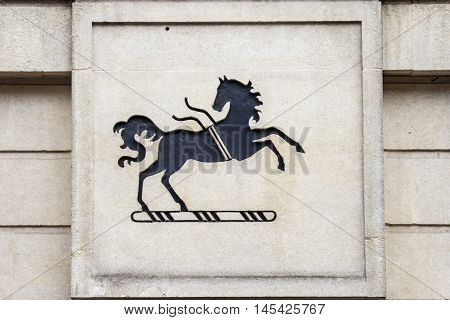 OXFORD, UNITED KINGDOM - AUGUST 12TH 2016: A sign for a Lloyds Bank outlet in the city of Oxford in the UK on 12th August 2016.