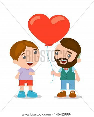 cute cartoon gay couple in casual clothes, romantic couple , vector Illustration